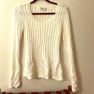 White sweater size M